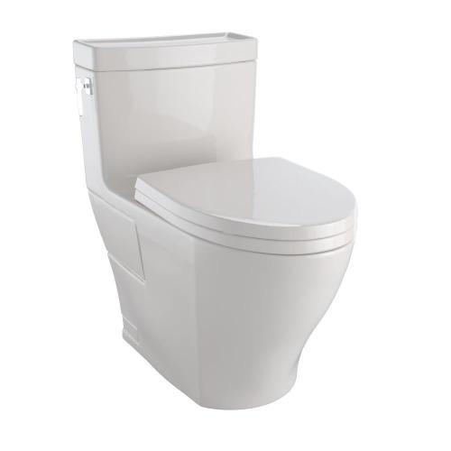 Aimes® One-Piece Toilet, 1.28GPF, Elongated Bowl - Washlet®+ Connection - Sedona Beige