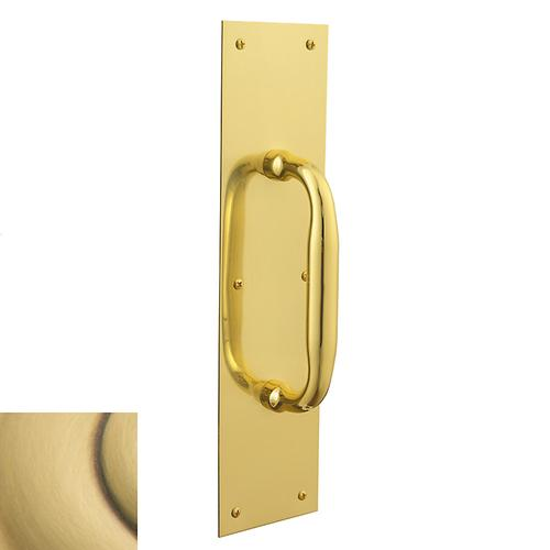 Satin Brass and Brown 2560 Pull x 2121 Pull Plate