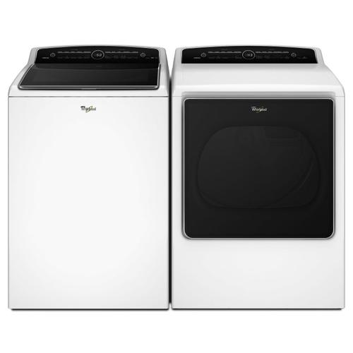 8.8 cu.ft Top Load HE Gas Dryer with Intuitive Touch Controls, Steam Refresh White