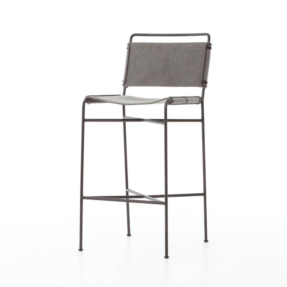 See Details - Bar Stool Size Stonewash Grey Cover Wharton Bar + Counter Stool