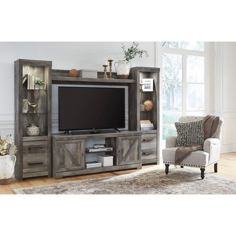 View Product - Wynnlow Gray 4 Piece Entertainment Center
