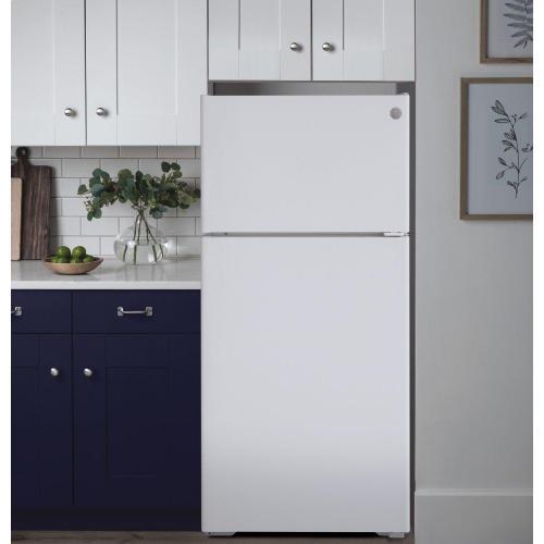 GE Appliances - GE® ENERGY STAR® 16.6 Cu. Ft. Recessed Handle Top-Freezer Refrigerator
