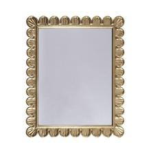 Easily At Home In Any Interior, the Eliza Rectangular Mirror Brings Elegant Texture and Visual Interest To Your Powder Room, Guest Suite, or Entry Hall. Features an Extraordinary Scallop Frame Detail and Hand Crafted Gold Leaf Finish.