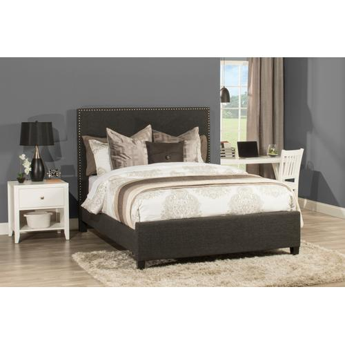 Megan Queen Bed - Onyx Linen