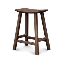 "Mahogany Traditional 24"" Saddle Bar Stool"