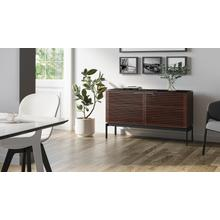 View Product - Corridor SV 7128 Storage Cabinet in Chocolate Stained Walnut