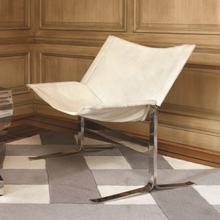 See Details - Cantilever Chair-White Hair-on-Hide