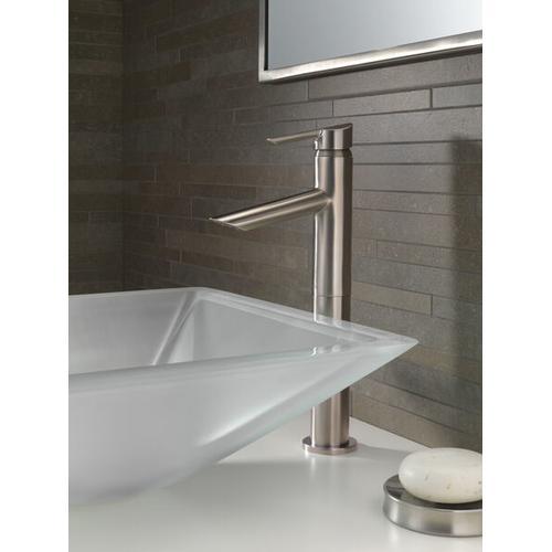 Stainless Single Handle Vessel Bathroom Faucet