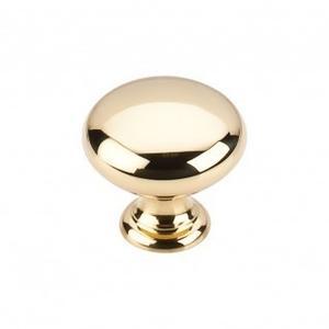 Hollow Round Knob 1 1/4 Inch - Polished Brass