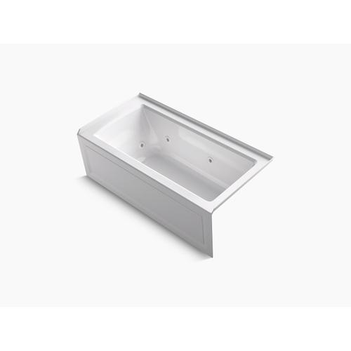 "Thunder Grey 60"" X 30"" Three-side Integral Flange Whirlpool Bath With Right-hand Drain, Heater, and Comfort Depth Design"