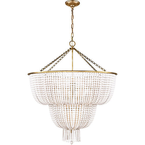 AERIN Jacqueline 12 Light 32 inch Hand-Rubbed Antique Brass Two-Tier Chandelier Ceiling Light