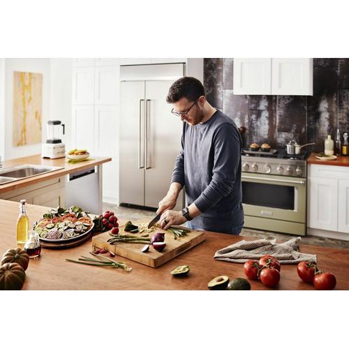 KitchenAid - KitchenAid® 36'' Smart Commercial-Style Dual Fuel Range with 6 Burners - Avocado Cream