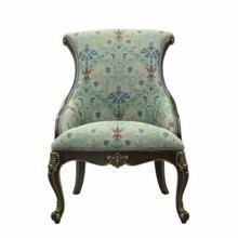 ACME Ameena Accent Chair & Pillow - 50845 - Fabric & Espresso