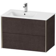 View Product - Vanity Unit Wall-mounted, Brushed Dark Oak (real Wood Veneer)