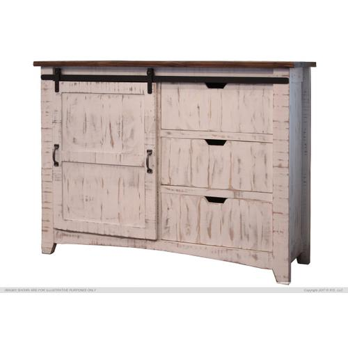 3 Drawer, 1 Sliding door Chest