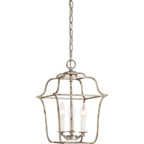 Quoizel - Gallery Pendant in Century Silver Leaf