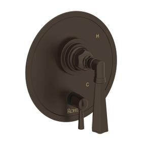 San Giovanni Pressure Balance Trim with Diverter - Tuscan Brass with Metal Lever Handle