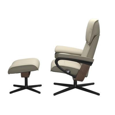 See Details - Stressless® Admiral (M) Cross Chair with Ottoman