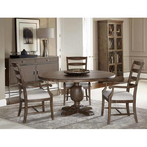 Rustic Patina Round Dining Table in Peppercorn (387)
