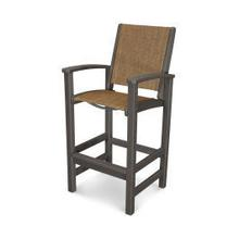 View Product - Coastal Bar Chair in Vintage Coffee / Chateau Sling