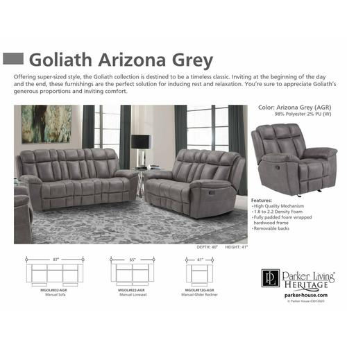 Parker House - GOLIATH- ARIZONA GREY Manual Reclining Collection