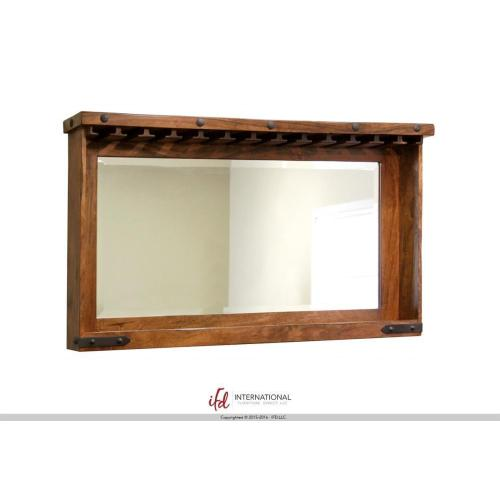 Mirror Bar w/Glass holders & Shelf for wine bottle