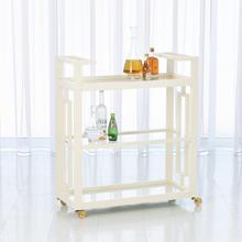 See Details - Grid Block Bar Cart-White