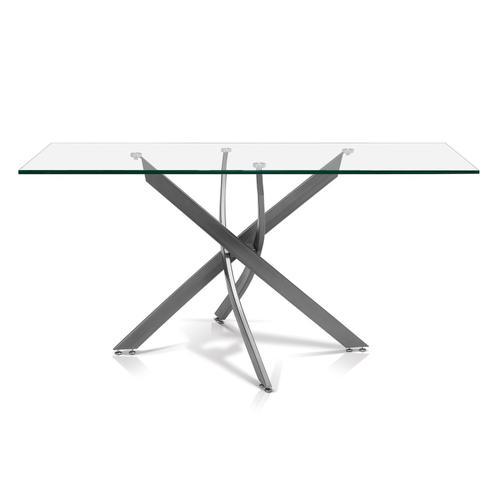 Katie Rectangular Glass Top Dining Table
