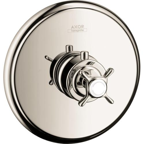 Polished Nickel Thermostatic Trim HighFlow with Cross Handle