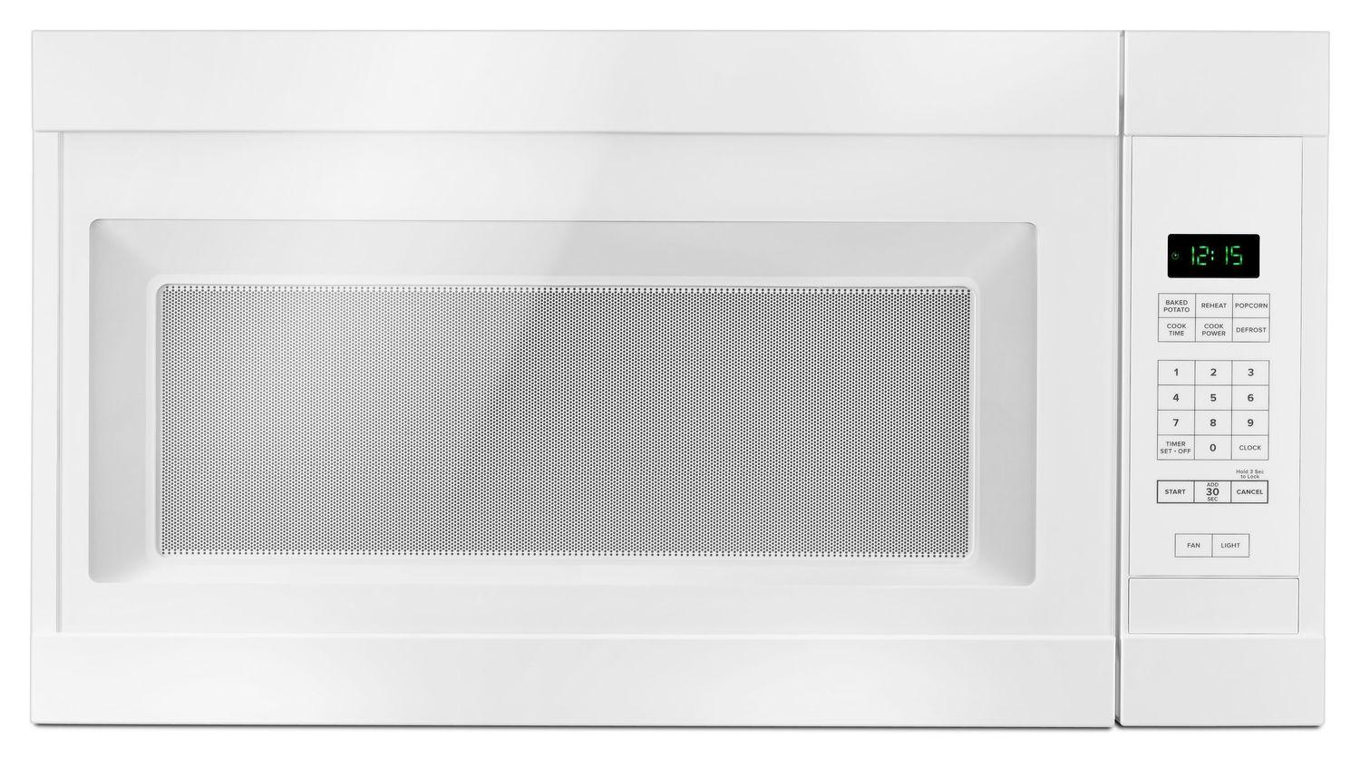 Amana1.6 Cu. Ft. Over-The-Range Microwave With Add 0:30 Seconds White