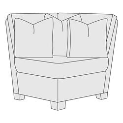 Larson Corner Chair in Mocha (751)