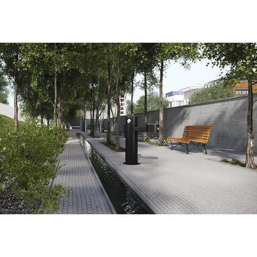 Elkay - Elkay Outdoor Fountain Bi-Level Pedestal Non-Filtered, Non-Refrigerated Black
