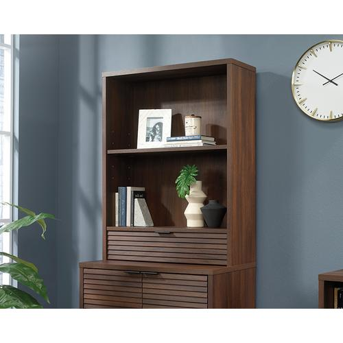 2-Shelf Library Hutch with Pull Out Drawer