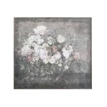 """See Details - 61-1/2""""L x 55""""H Wood Wall Decor w/ Flower Bouquet"""