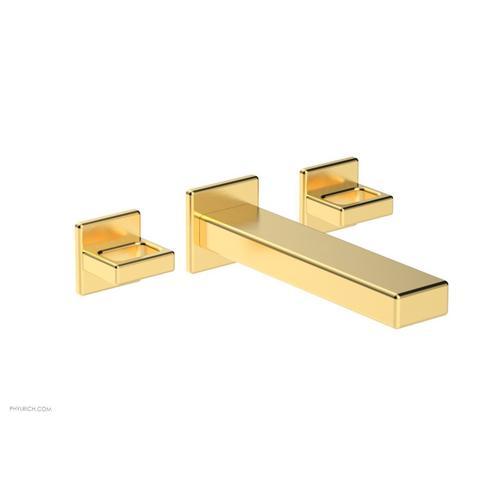 MIX Wall Lavatory Set - Ring Handles 290-13 - Satin Gold