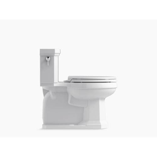 Black Black One-piece Compact Elongated 1.28 Gpf Chair Height Toilet With Slow Close Seat