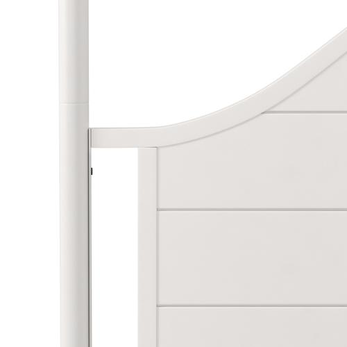 Cumberland Queen Metal Canopy Bed, Brushed White