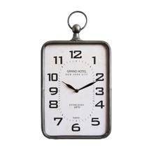 "9-3/4""L x 4""W x 18-1/4""H Metal Hanging Clock"