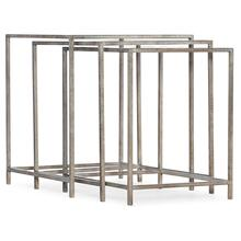 Living Room Novella Wavecrest Metal and Glass Nesting Tables