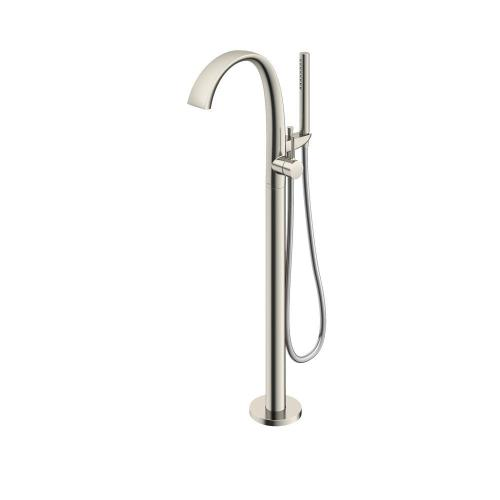 ZN Freestanding Tub Filler - Brushed Nickel