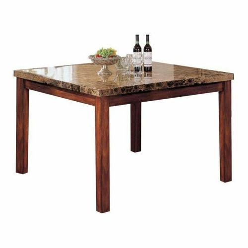 ACME Bologna Counter Height Table - 07380 - Brown Marble & Brown Cherry