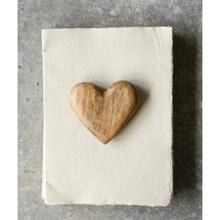 """See Details - 4-1/4""""L x 4""""W Hand-Carved Mango Wood Heart"""