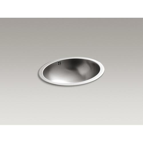 Drop-in/undermount Bathroom Sink With Luster Finish and Overflow