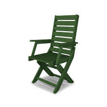 View Product - Captain Dining Chair in Green