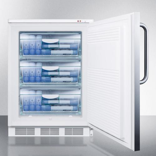 Summit - Commercial Freestanding Medical All-freezer Capable of -25 C Operation, With Lock, Wrapped Stainless Steel Door and Towel Bar Handle