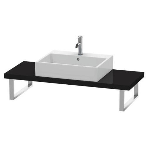 Duravit - Console For Above-counter Basin And Vanity Basin Compact, Black High Gloss (lacquer)