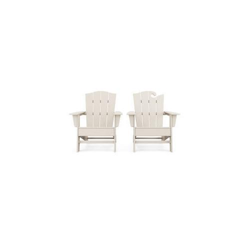 Polywood Furnishings - Wave 2-Piece Adirondack Chair Set with The Crest Chair in Sand