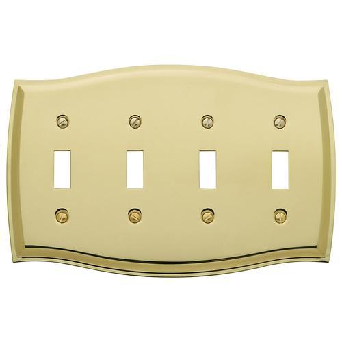 Baldwin - Polished Brass Colonial Quad Toggle