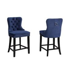 See Details - Barstool Navy Fabric (set of 2)