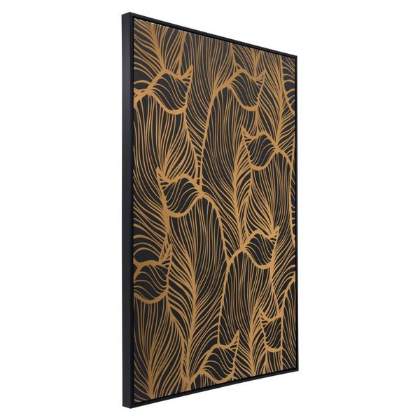 Flora Canvas Black & Gold